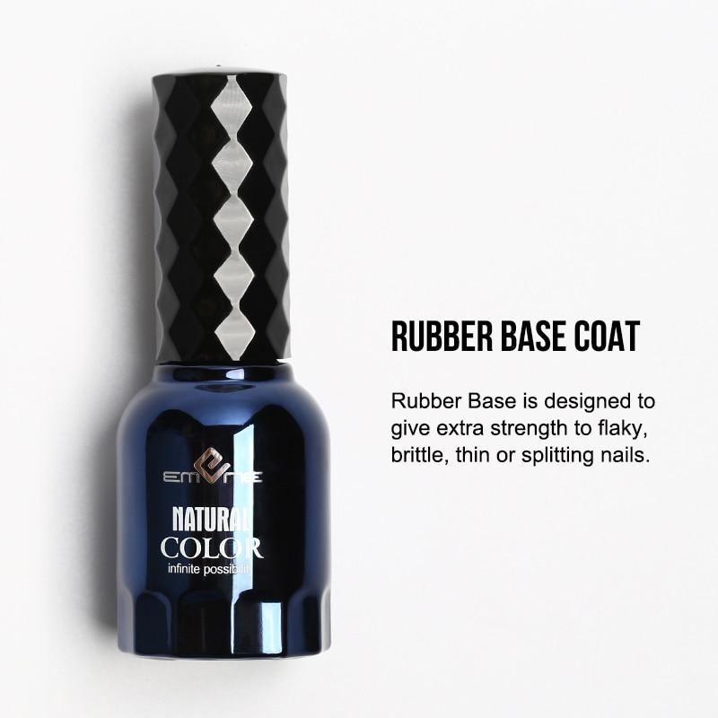 3 PCS Set EMENE Rubber Base Coat Top Coat 0 5fl oz Matte Super Shiny No Wipe Top Coat Reinforce Gel Nail Polish Primer Gellak in Nail Gel from Beauty Health