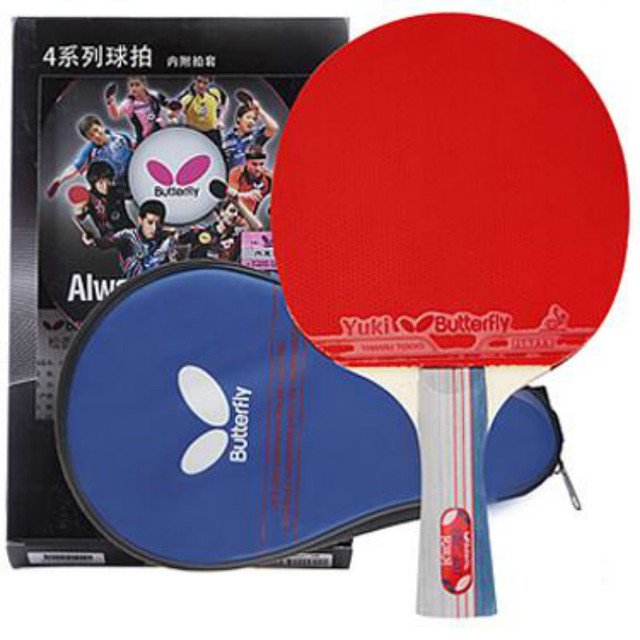 Butterfly genuine tbc 401 402 403 shakehand ténis de mesa raquete de ...
