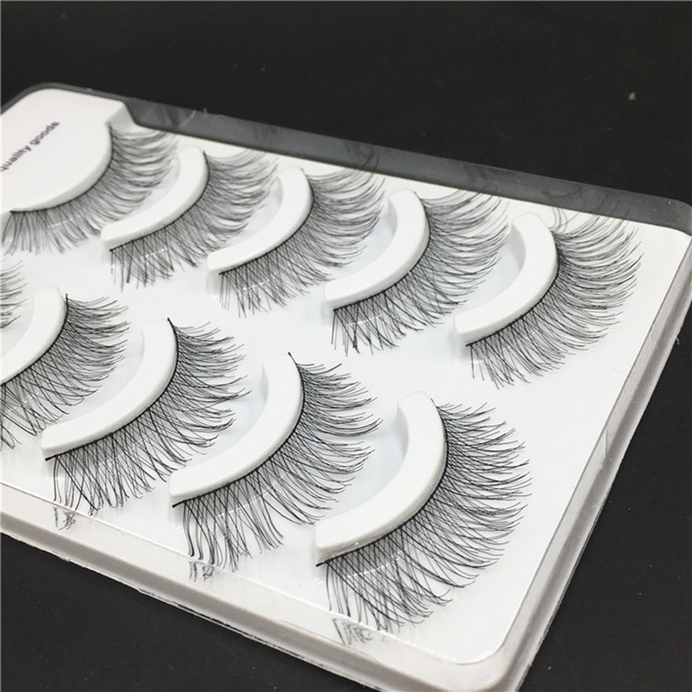 High Quality 3 Pairs/set Real Mink Natural Cross Long Thick Black False Eyelashes Eye Lashes Makeup Extension Tools Beauty Essentials Beauty & Health