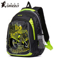 Рюкзак GRIZZLY для мальчиков  водонепроницаемый ортопедический рюкзак для мальчиков  1-4 класс