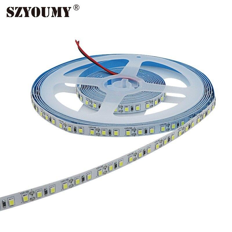 SZYOUMY bande LED smd lumière 600 LED haute luminosité 2835 5 M non-LED étanche bande diode 12 v