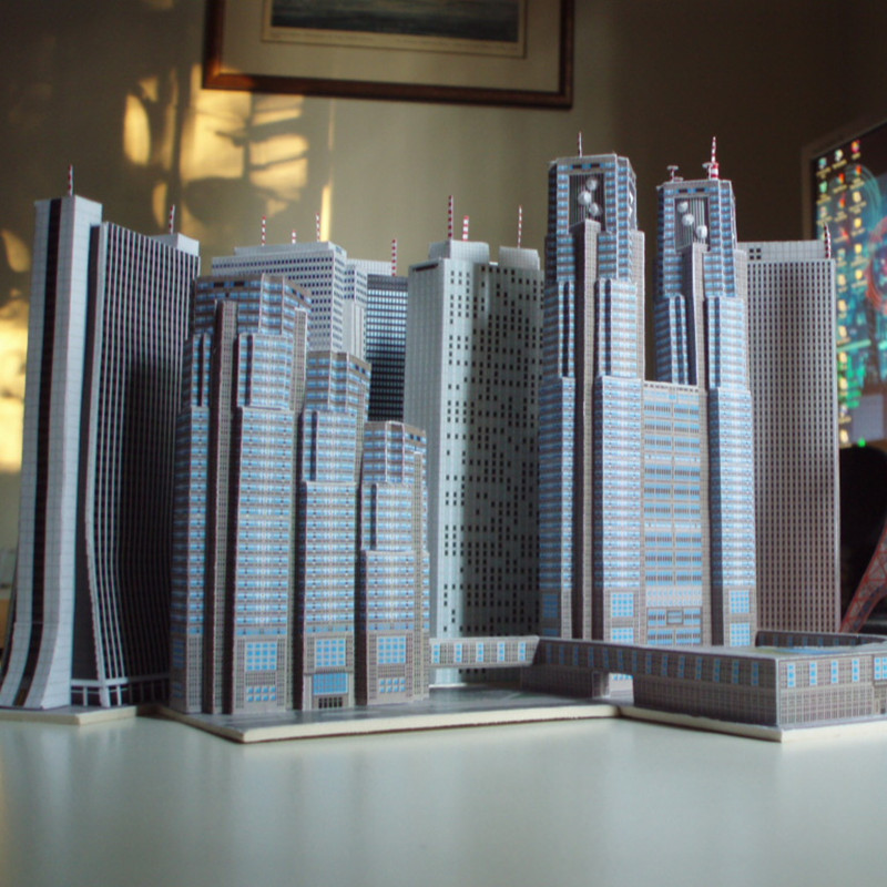 US $29 99 |Christmas Toy Set DIY 3D Famous Skyscraper Buildings Educational  Paper Model Puzzles for Adults&Children Home Bar Decoration Toy-in Puzzles