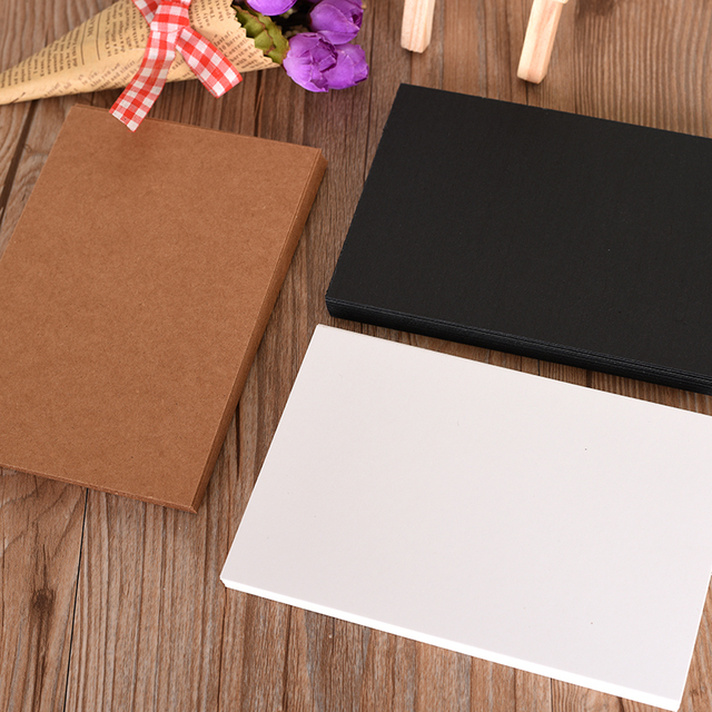 Aliexpress buy 20 kraft paper blank postcards diy business 20 kraft paper blank postcards diy business blackwhite paper postcards greeting card invitation m4hsunfo