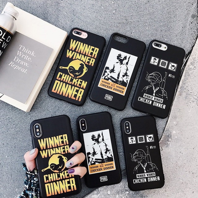 buy popular c3c60 b03ee US $3.42 10% OFF|PLAYERUNKNOWN'S BATTLEGROUNDS PUBG TPU phone Case For  iphone 6 6s 7 7Plus 8 8Plus X Soft Silicone Cover Cases-in Fitted Cases  from ...