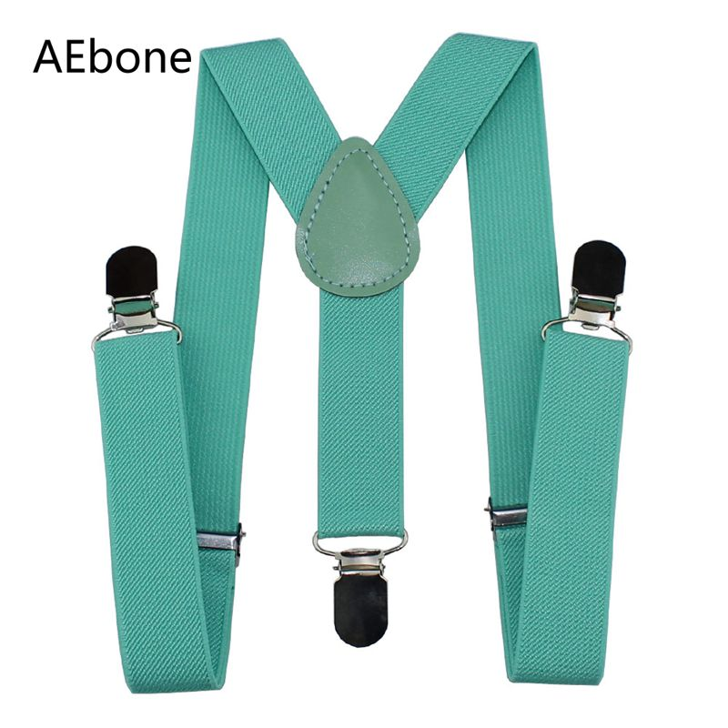 AEbone Kids Suspenders For Boys Children Brace For Trousers Girls Baby Suspenders Red Suspensorio Light Gray 100 Piecs Sua02