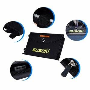 Image 3 - Suaoki 20 w carregador de painel solar de alta eficiência portátil bateria dupla saída usb easycarry dobrável células solares ao ar livre