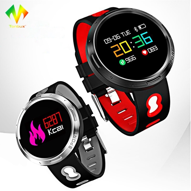 a2c6be6f15a0 € 30.58 23% de DESCUENTO|[Original] Tonbux reloj inteligente X9 VO IP68  impermeable Bluetooth 4,0 para Android IOS sueño Monitor ritmo cardíaco ...