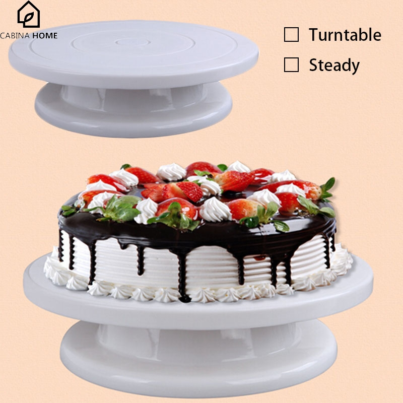 CABINA HOME 2018 DIY Birthday Cake Stand Plate Revolving Decoration Platform Turntable Round Rotating Cake Swivel Baking Tool
