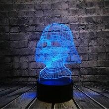 NOVA de Star Wars Darth Vader Escuro Guerreiro 3D luz Da Noite USB candeeiro de Mesa CONDUZIU a Lâmpada de Iluminação Multicolor Toque Visual Fresco Figura Brinquedos para Crianças