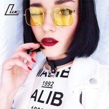 1b6791aab6c05 Espelho Retro Quadrados Óculos De Sol Dos Homens Das Mulheres Marca de Luxo Designer  Óculos de Sol para As Mulheres Pequeno Hip .