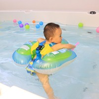 Детский Надувной Плавательный круг плавающий круг для плавания детский тренировочный поплавок кольцо с безопасной двойной подушки безопа...