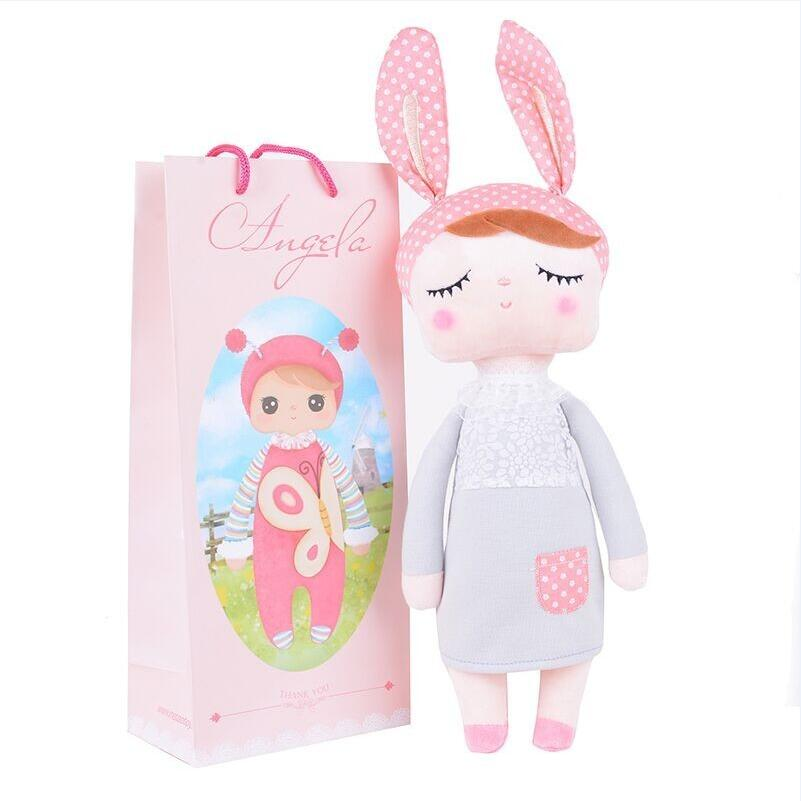 Lovely Angela Cute soft Plush Stuffed Rattles Toys appease for children's gifts Metoo Doll cute simulation fox plush toys kids appease doll gifts