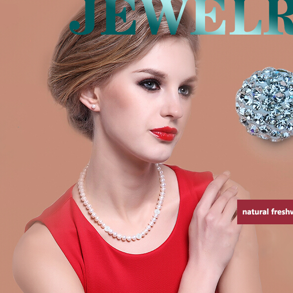 ZHBORUINI 2019 Pearl Necklace 925 Sterling Silver Jewelry For Women 8 9mm Crystal Ball Natural Freshwater ZHBORUINI 2019 Pearl Necklace 925 Sterling Silver Jewelry For Women 8-9mm Crystal Ball Natural Freshwater Pearls Pearl Jewelry