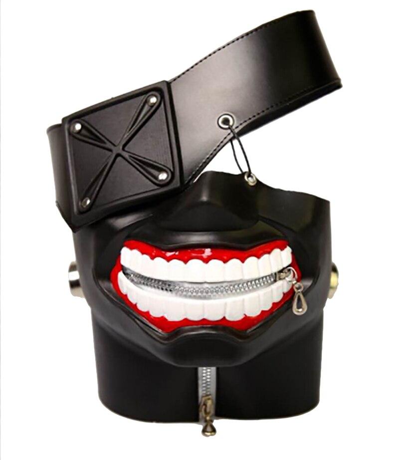 Tokyo Ghoul 2 Kaneki Ken Mask Adjustable Zipper Masks PU Leather Cool Mask Blinder Cosplay