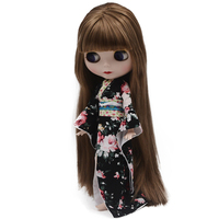 Blyth Doll BJD, Neo Blyth Doll Nude Customized Frosted Face Dolls Can Changed Makeup and Dress DIY, 1/6 Ball Jointed Dolls SO34