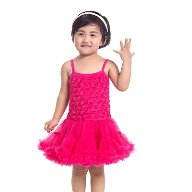 1e087f786e Niña roseta floral acodado vestido hermoso tutú Vestidos boutique niña Bebé  Ropa en Vestidos de Mamá y bebé en AliExpress.com