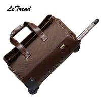 Letrend Новая модная водонепроницаемая сумка для багажа на колёсиках, деловая дорожная сумка, клетчатая багажная тележка для мужчин, чемодан н