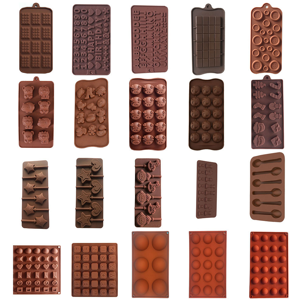 3D Silicone Chocolate Mold DIY Handmade Soap Form Cake Mold Jelly Candy Bar Fondant Molds Kitchen Baking Accessories