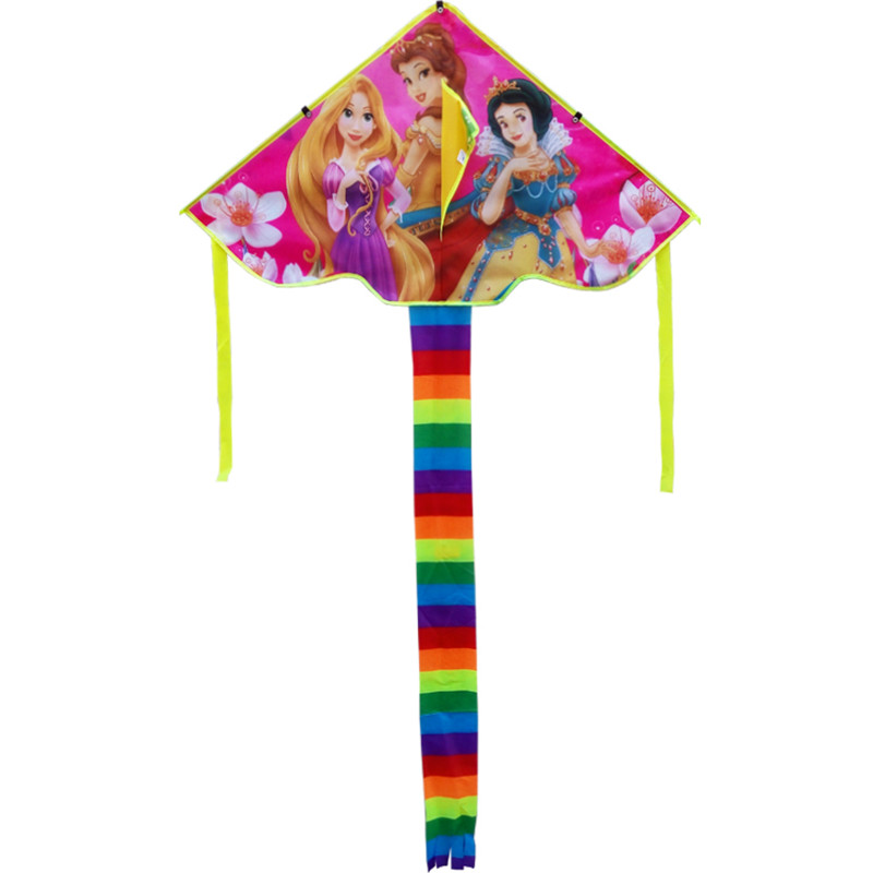 Free Shipping High Quality New Children Kite Three Princess Kites 2pcs/lot With Handle Line Toy Nylon Ripstop Wei Kite Factory