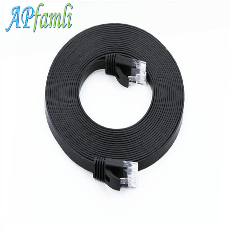 Category 6 UTP Jumper Unshielded Network Extension RJ45 Flat Network Signal Cable Eight Core Stranded Cable цена и фото