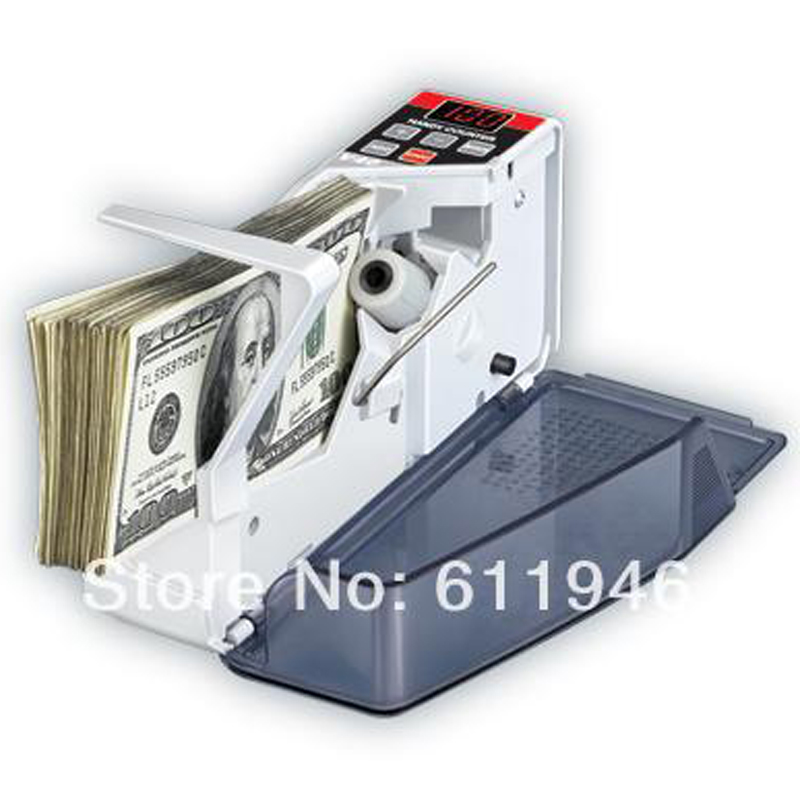 ФОТО 2014 new V40 Mini Portable Handy Bill Cash Money registers Currency Counter Counting Machine,16PCS/LOT