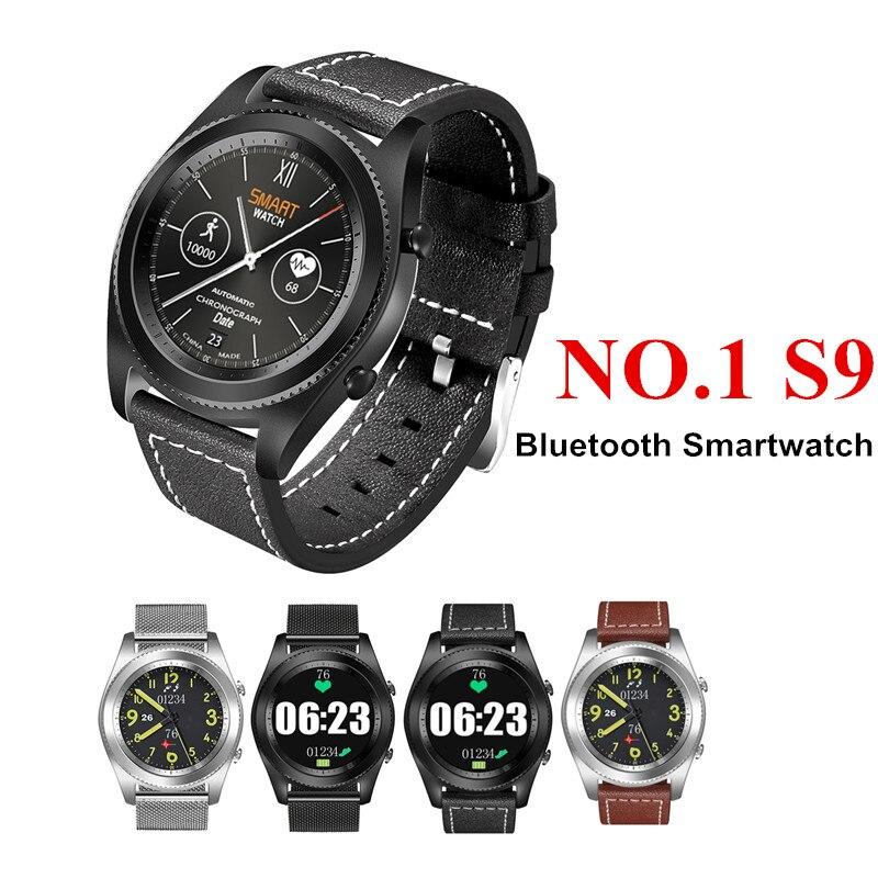 Оригинальный dtno. Я № 1 S9 NFC MTK2502C Smartwatch монитор сердечного ритма Bluetooth 4,0 Smart часы браслет для IOS Android