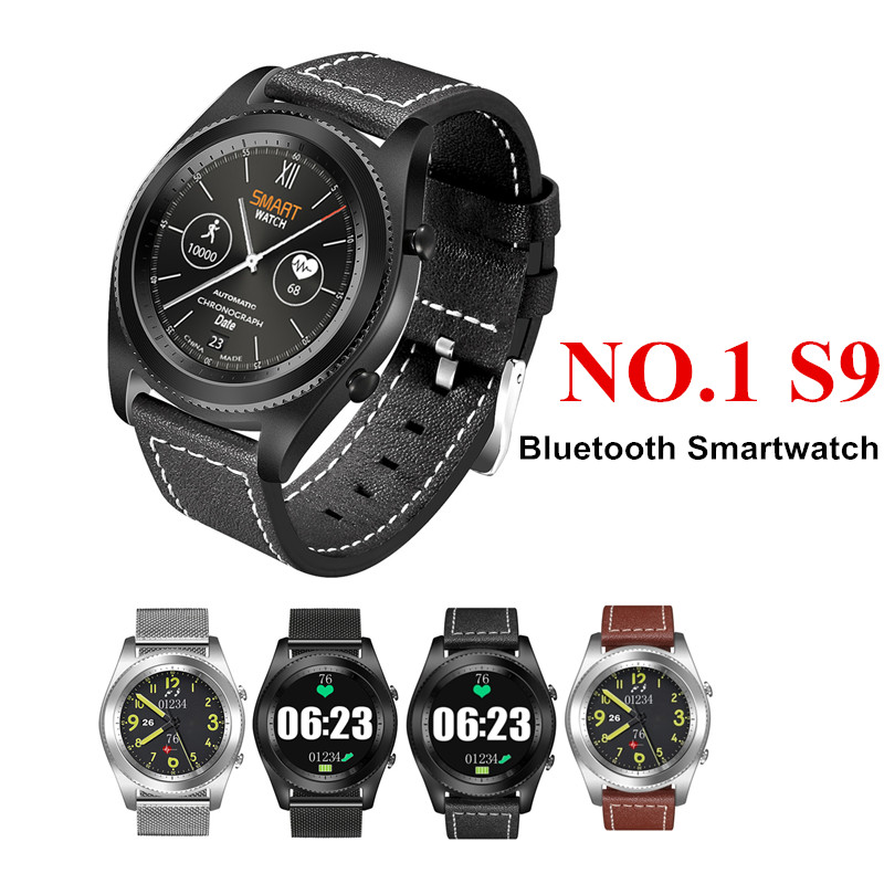 Original DTNO.I No.1 S9 NFC MTK2502C Smartwatch Heart Rate Monitor Bluetooth 4.0 Smart Watch Bracelet For IOS Android