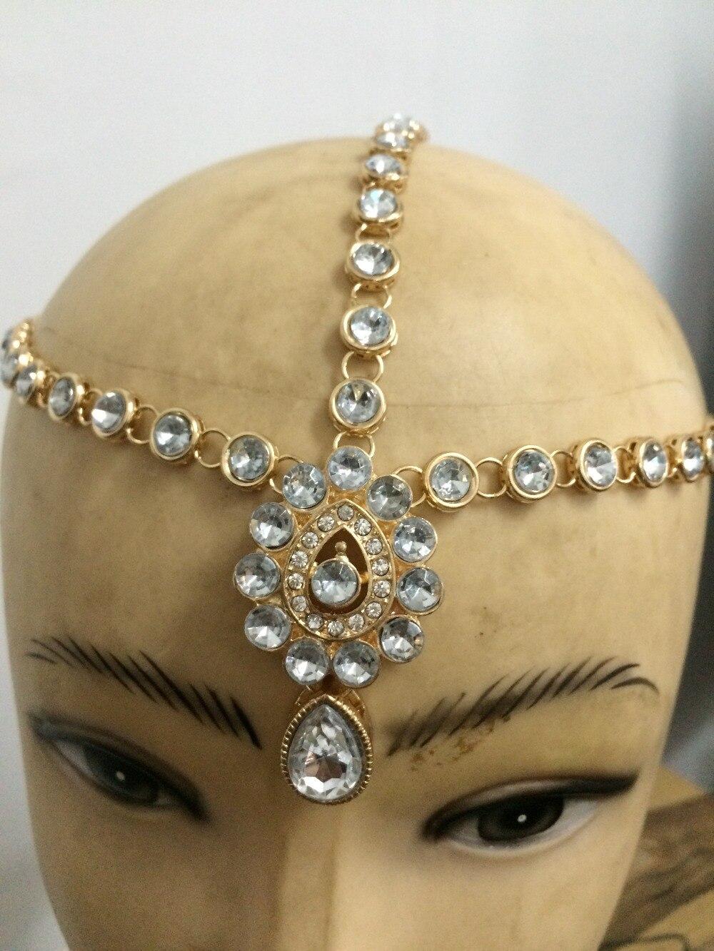 Beautiful matha patti hair style Handmade Kundan Stone Indian Head Piece