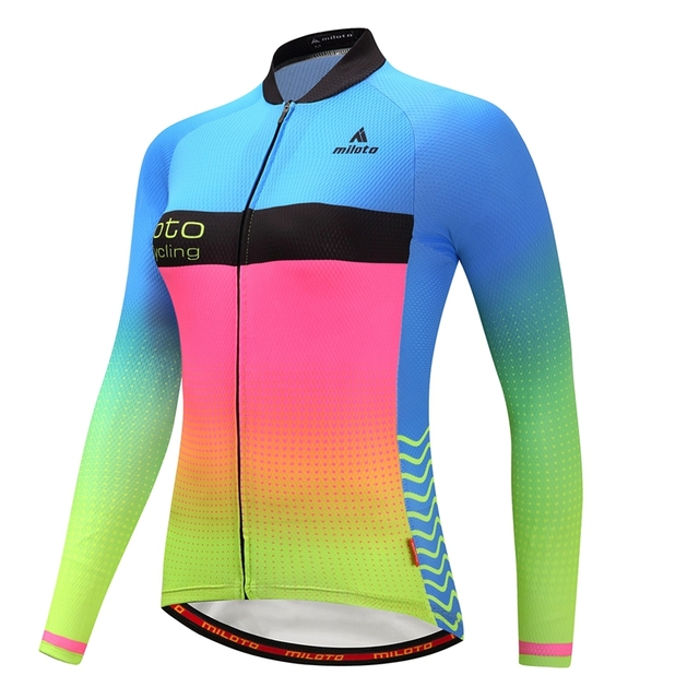 9aa79ddf0 Weimostar Winter Thermal Fleece Cycling Jersey Long Sleeve Women Pro Team  Racing Cycling Clothing Breathable mtb