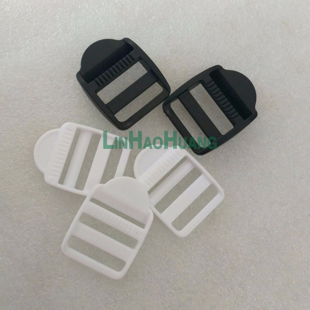 50pcs/lot 26mm 1 Inch Pom Adjustable Buckles Plastic Ladder Buckle Luggage Backpack Staps Black Apparel Sewing & Fabric White Free Shipping 2017112201 Be Novel In Design
