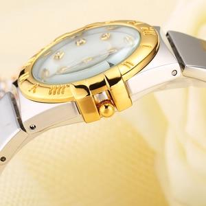Image 3 - MISSFOX Elegantนาฬิกาผู้หญิงเพชรตัวเลขโรมันPearl Shell Classicสุภาพสตรีนาฬิกากันน้ำหญิงควอตซ์นาฬิกาข้อมือ