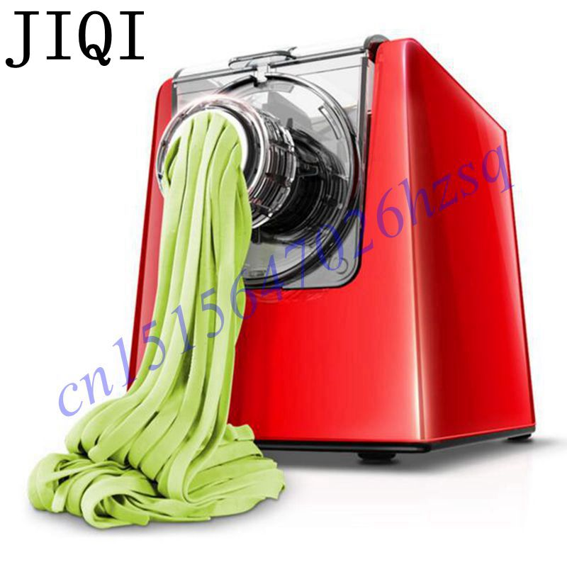 JIQI New Electric noodles machine Ten molds dumpling wrapper/various of noodles Maker Pasta Household full-automatic jiqi stainless steel household rolling dough pressing maker manual noddle pasta machine hand dumpling wrappers wonton machine