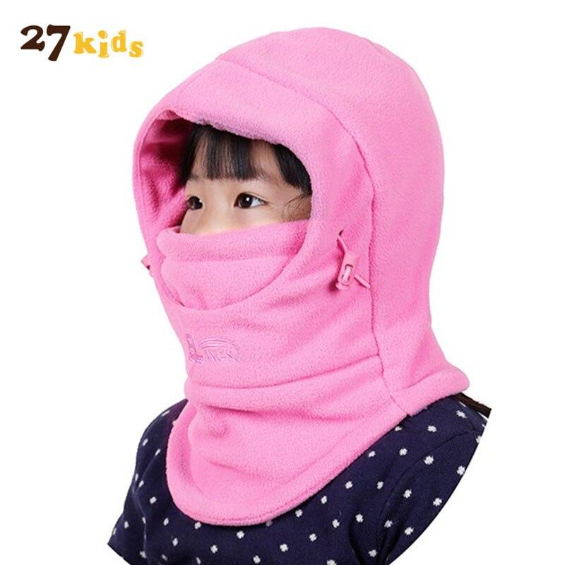 27 Дети Детские Двойной толстые шляпы Зимние теплые флисовая шапка 3 в 1 для маленьких мальчиков девочек ветрозащитный Шапки детская одежда а...