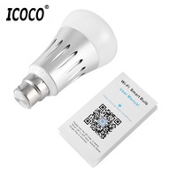 ICOCO Wifi Controlled Smart Bulb E27 Smart Lighting Lamp Lights Smartphone Controlled Daylight Night Light For