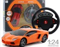 RC Mini Car  Remote Control 1/24 Drift Speed Radio Steering Wheel RC Racing Car Radio-Controlled Cars RC Car + LED Light
