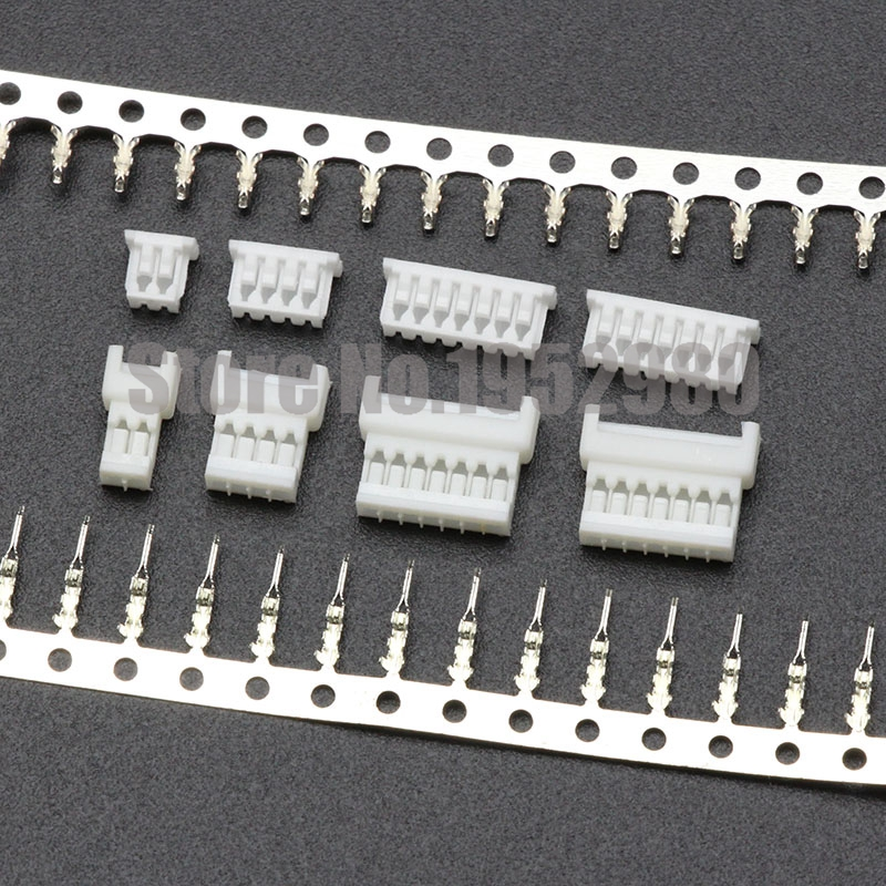 100 Set  Micro JST 1.25mm Connector Wire To Wire Type Male/Female Housing+Male/Female Terminals