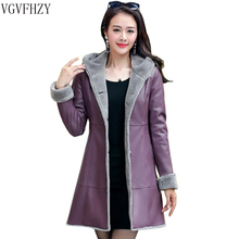 Jacket Fur Coats Hooded Trench Thicker Plus-Size Winter Women Boutique Medium-Length
