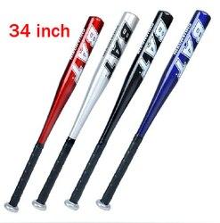 1 pc 34 polegada (86 cm) cor esportes liga bastões de beisebol de alumínio bastão de beisebol azul, vermelho, prata, preto para misturar