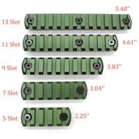 Trirock 올리브 그린 5/7/9/11/13 슬롯 keymod 레일 섹션 picatinny/위버 레일 세그먼트 핸드 가드 시스템 무료 배송