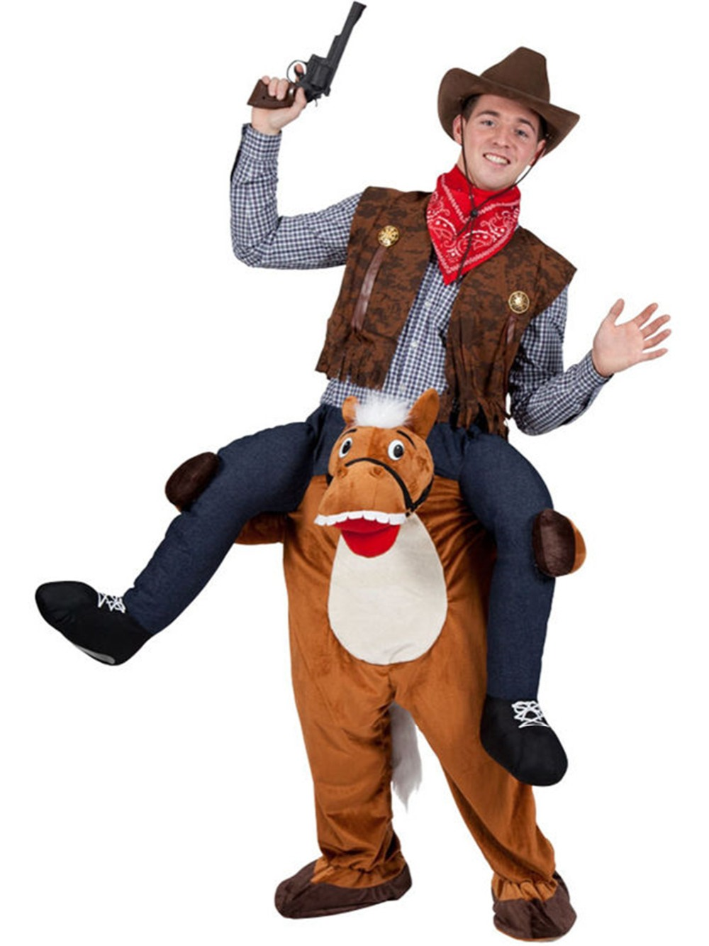 Halloween Tour sur Cheval Fantaisie Robe Mascotte Costume
