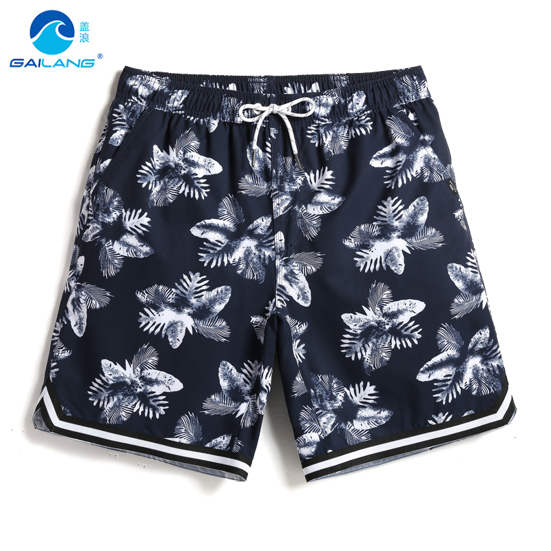 Summer Men's New bathing suit   board     shorts   quick dry surfboard liner joggers swimwear camouflage swimsuit briefs printed