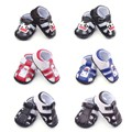 New Fashion Summer Cool PU Leather Infant Toddler Newborn Baby Boy Kid Soft Rubber Soled First Walkers Shoes Crib Babe Footwear