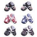 Nueva Moda de Verano Fresco de LA PU Cuero Infant Toddler Bebé Recién Nacido Chico de Goma Suave Suela Primeros Caminante Zapatos del Pesebre del Bebé calzado