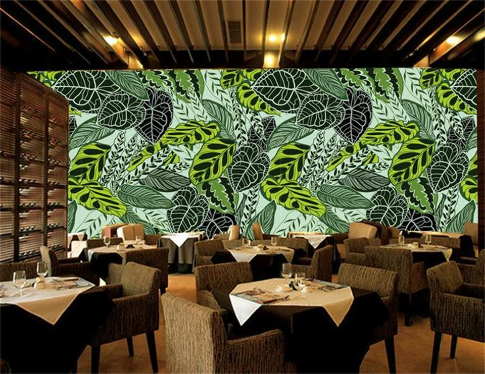 3d room wallpaper custom photo non-woven mural rain forest palm banana leaves decoration painting 3d mural wallpaper for walls 3d room custom wallpaper photo non woven mural picture 3d fantasy forest birds decoration painting wallpaper for walls 3 d