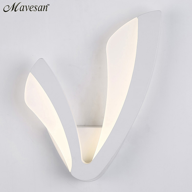 modern led wall lamp for bathroom bedroom 12w wall sconce