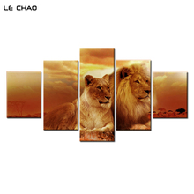 ФОТО Canvas Painting Decorative Wall Pictures Home Decor Modular Pictures for Living Room Lion Painting Poster Drop  Wall Art