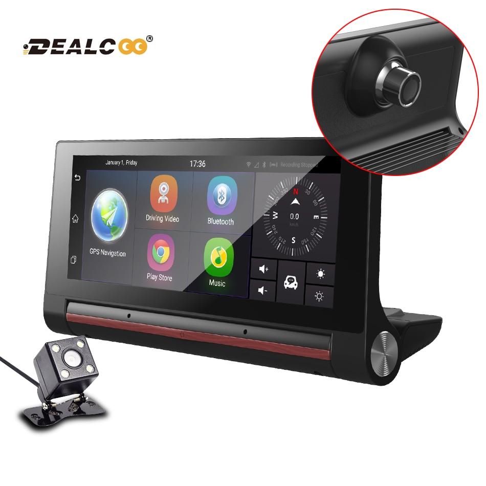 Dealcoo 3G  Car DVR Recorder Camera Android Dash cam Video Auto Registrar with Two Cameras FHD 1080p black box GPS Navigation планшет digma plane 1601 3g ps1060mg black