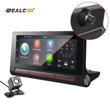 Dealcoo 3G  Car DVR Recorder Camera Android Dash cam Video Auto Registrar with Two Cameras FHD 1080p black box GPS Navigation