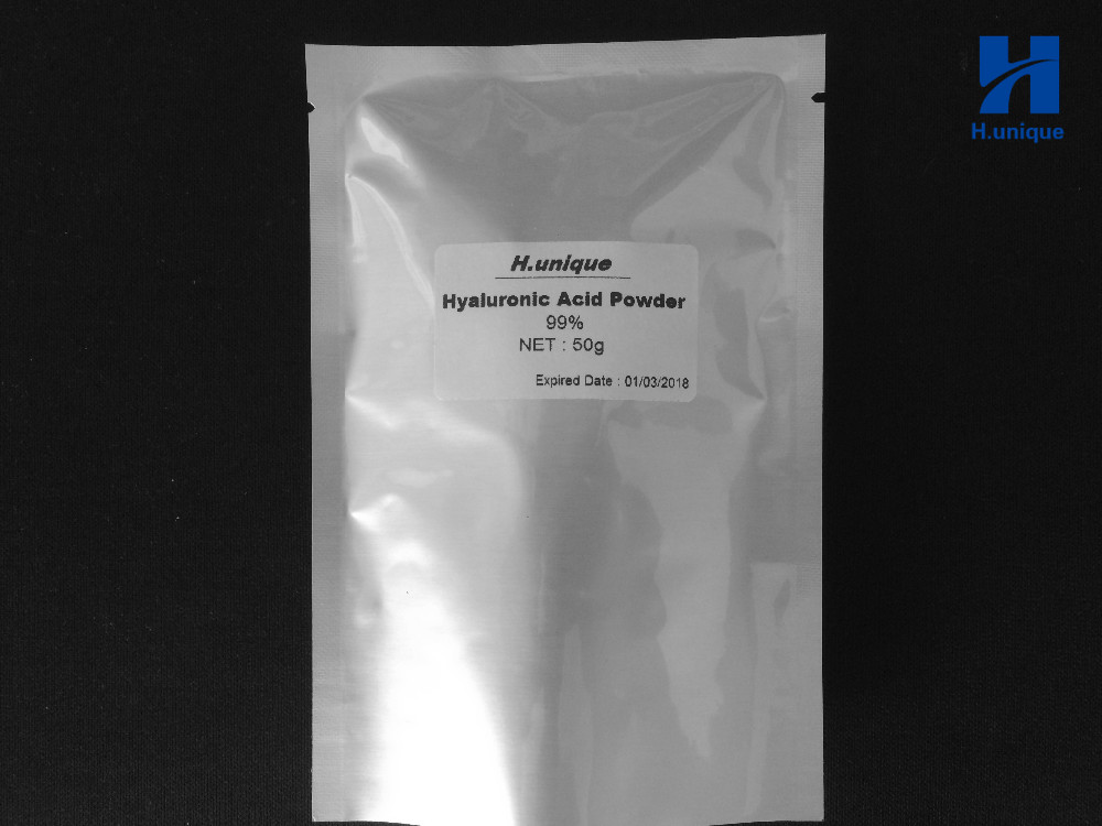50g 99 Cosmetic Hyaluronic Acid Powder Pure Hyaluronan Skin Anti Aging Wrinkle Joint Serum