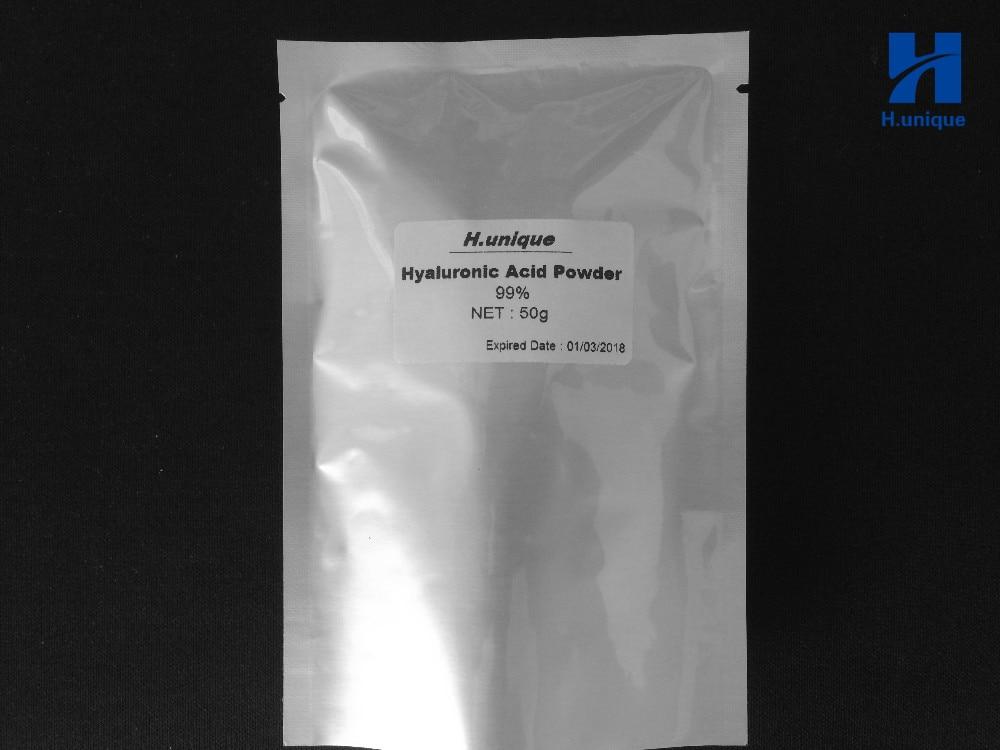 50g 99% Cosmetic Hyaluronic Acid Powder Pure Hyaluronan Skin Anti Aging Wrinkle Joint Serum